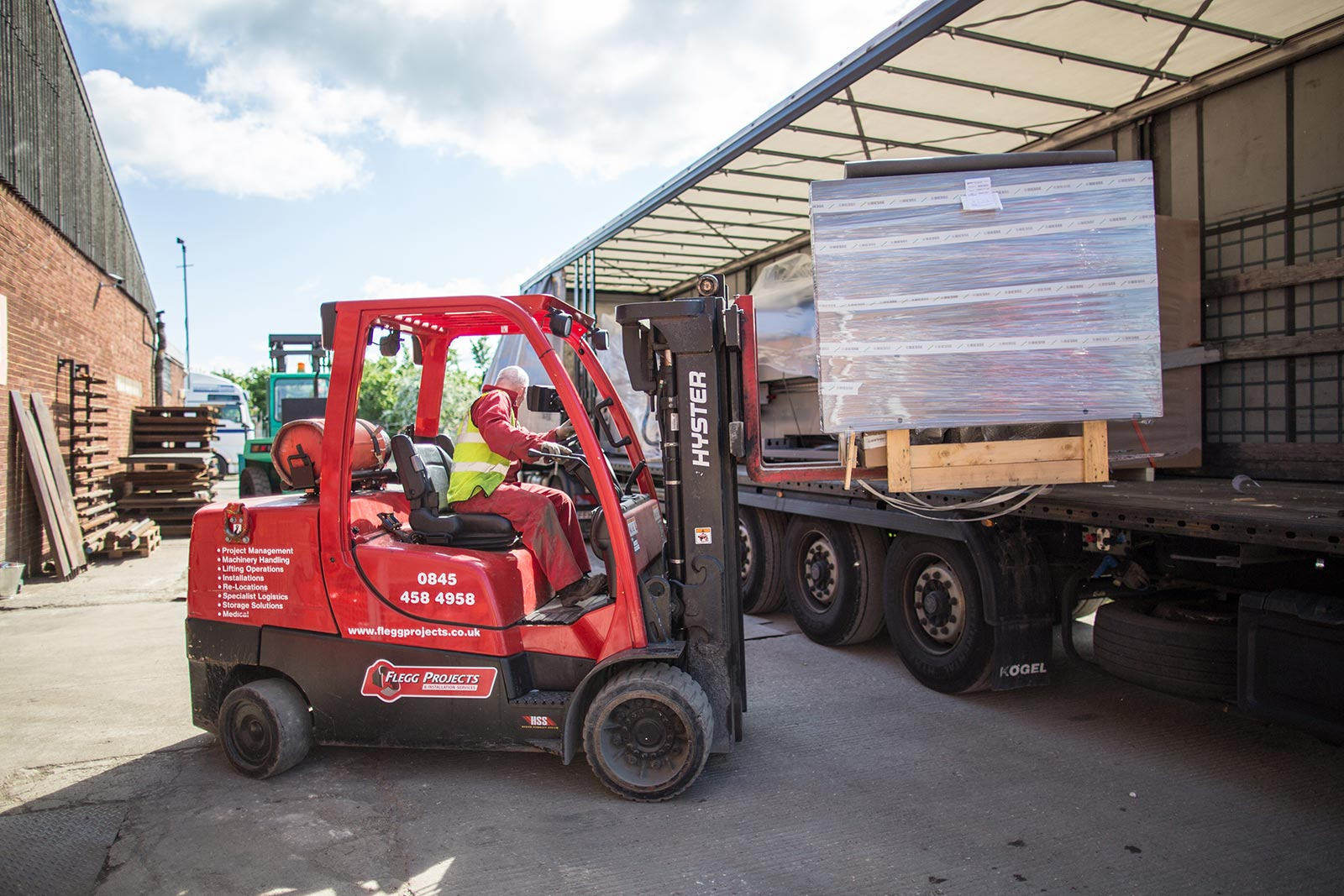 Flegg projects, Machine movers, factory relocations