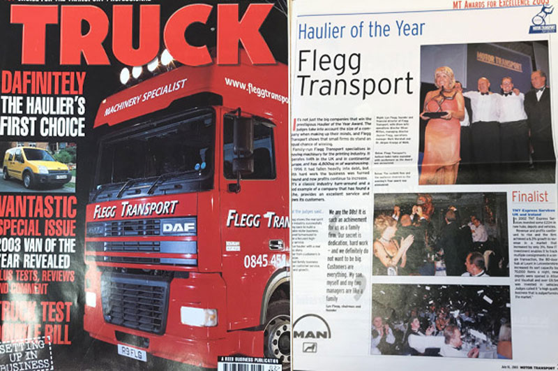 Magazine feature in Truck