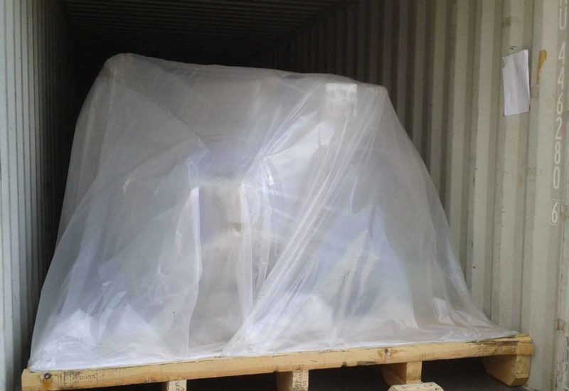 pallet inside a container