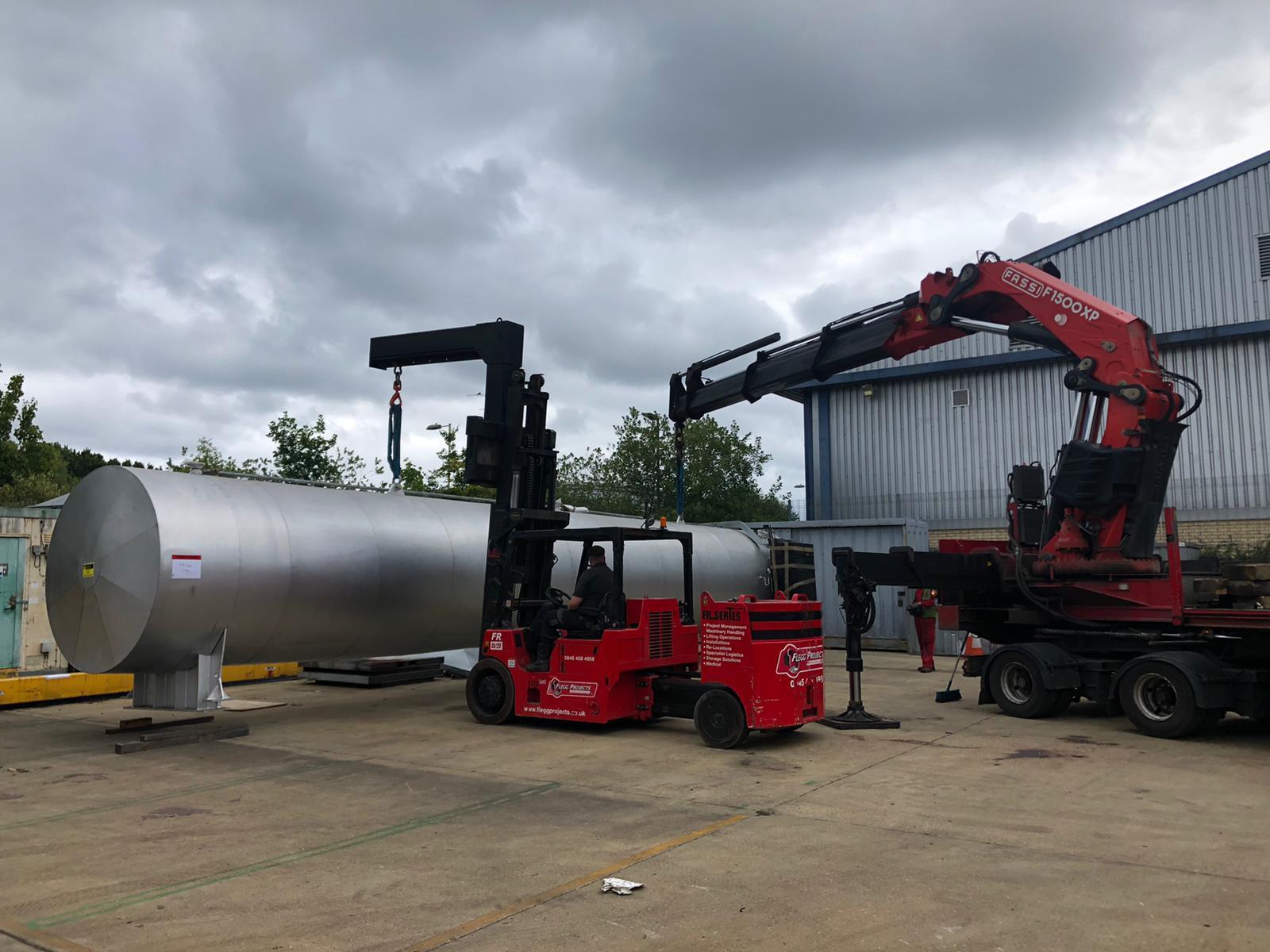 removing machinery using Flegg