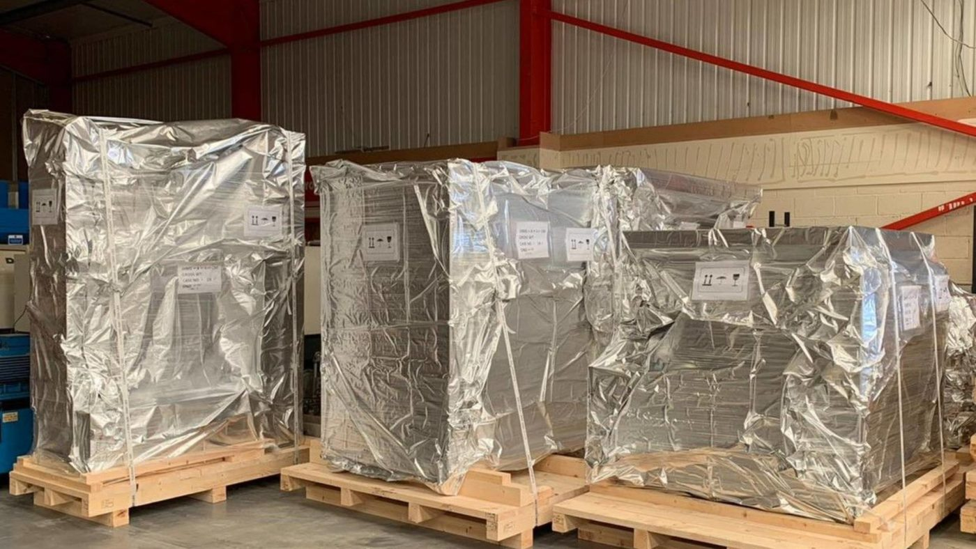 Carefully packaging freight