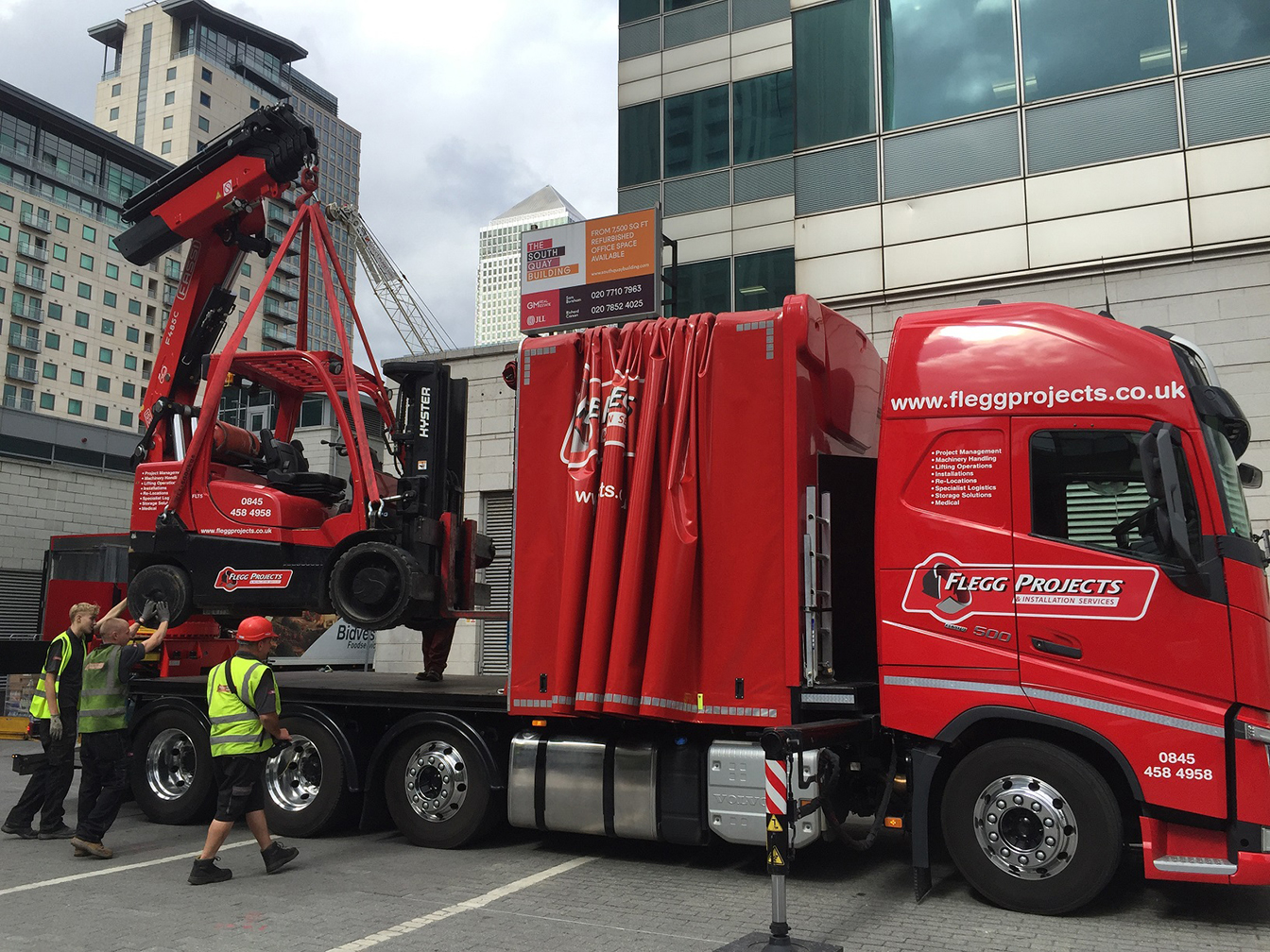 New lorry with forklift