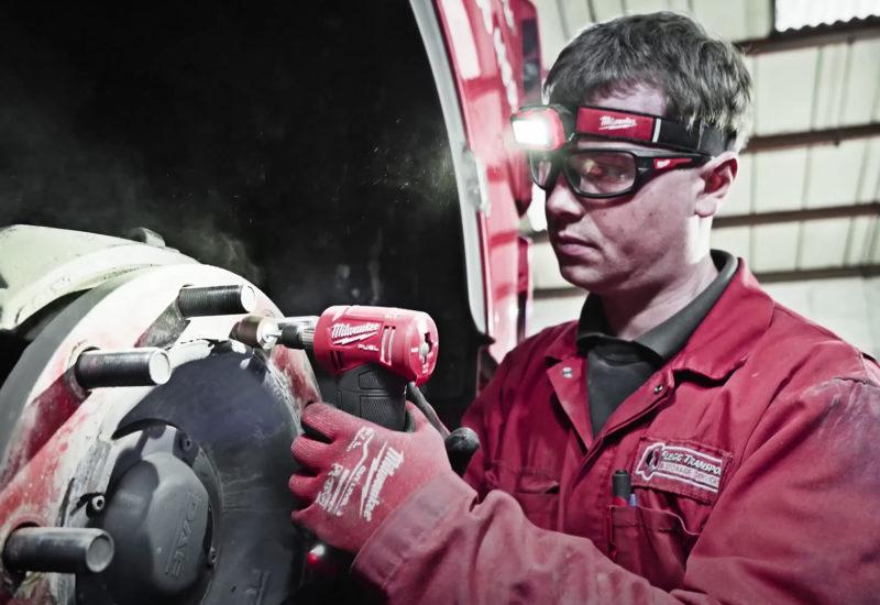 Engineer using Milwaukee tools