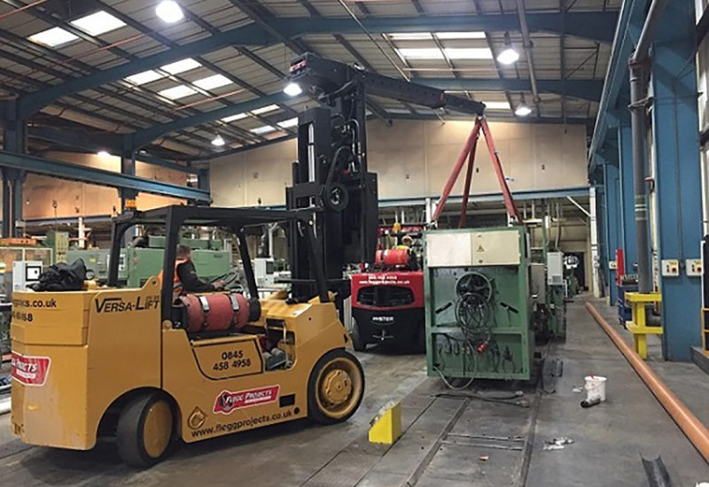 Moving in factory